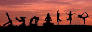 silhuette posizioni yoga